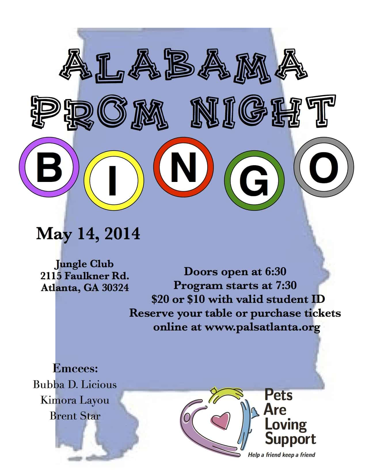 May - Alabama Prom Night Bingo!