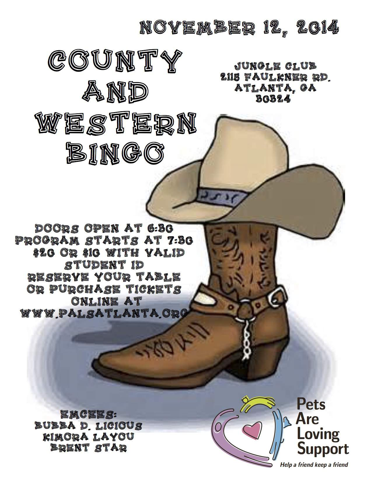 November - Country & Western Bingo!