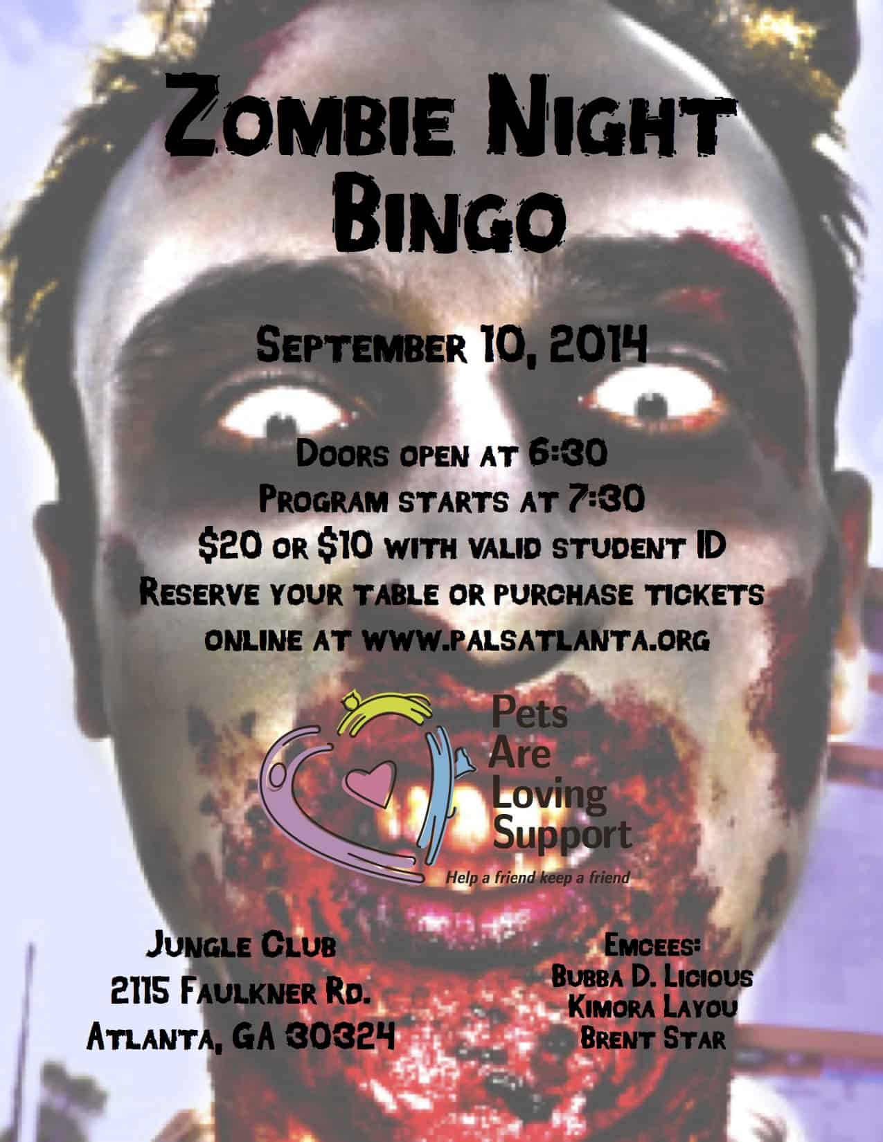 September - Zombie Night Bingo!